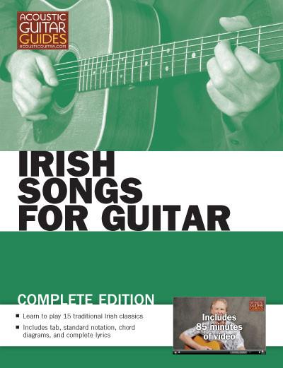 book cover for irish songs for guitar