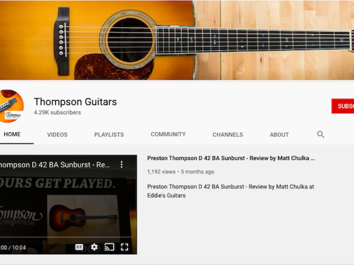 Thompson Youtube Playlists Acoustic Guitar